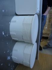 Studio dei contenitori circolari in Corian curvato