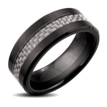 Men-s-Wedding-Band---Black-Ceramic-Silver-Carbon-Fiber-Inlay-Ring-1