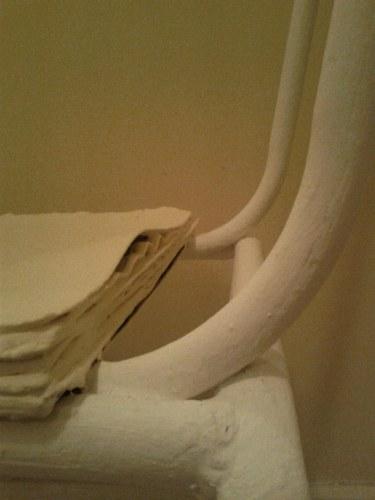 Dettaglio tra seduta e scheletro