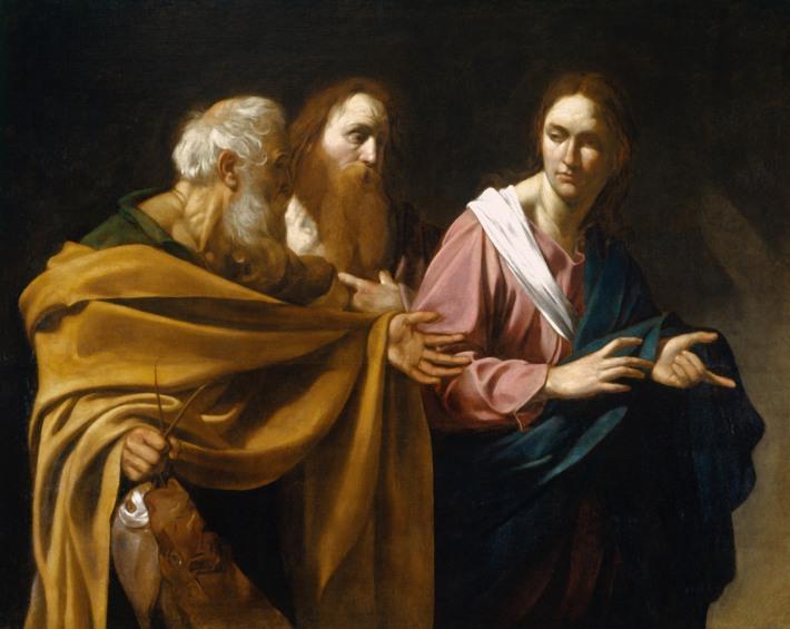 La vocazione dei santi Pietro e Andrea - Caravaggio