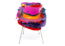 'PE stripe meltdown chair' by tom price