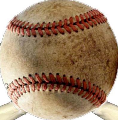 Pallina da baseball con cuciture a bacchetta di colore rosso