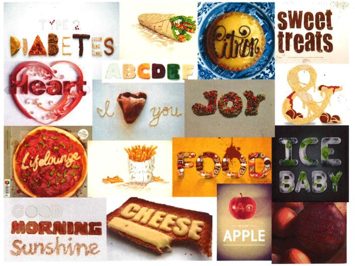 Food mood board - Tavola delle emozioni per i cibi