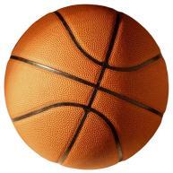 Palla da basketball con linee di superficie color nero