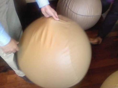 Apertura e maniglia del rivestimento della palla ispirata alla superficie della palla da basket