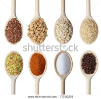 stock-photo-close-up-of-various-cereals-and-seasoning-in-wooden-spoons-on-white-background-each-one-is-shot-77290279