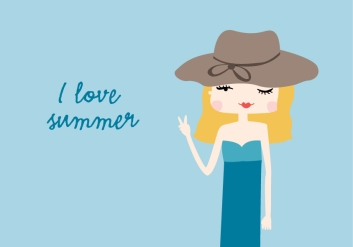 summer-girl-illustration-blue-yellow